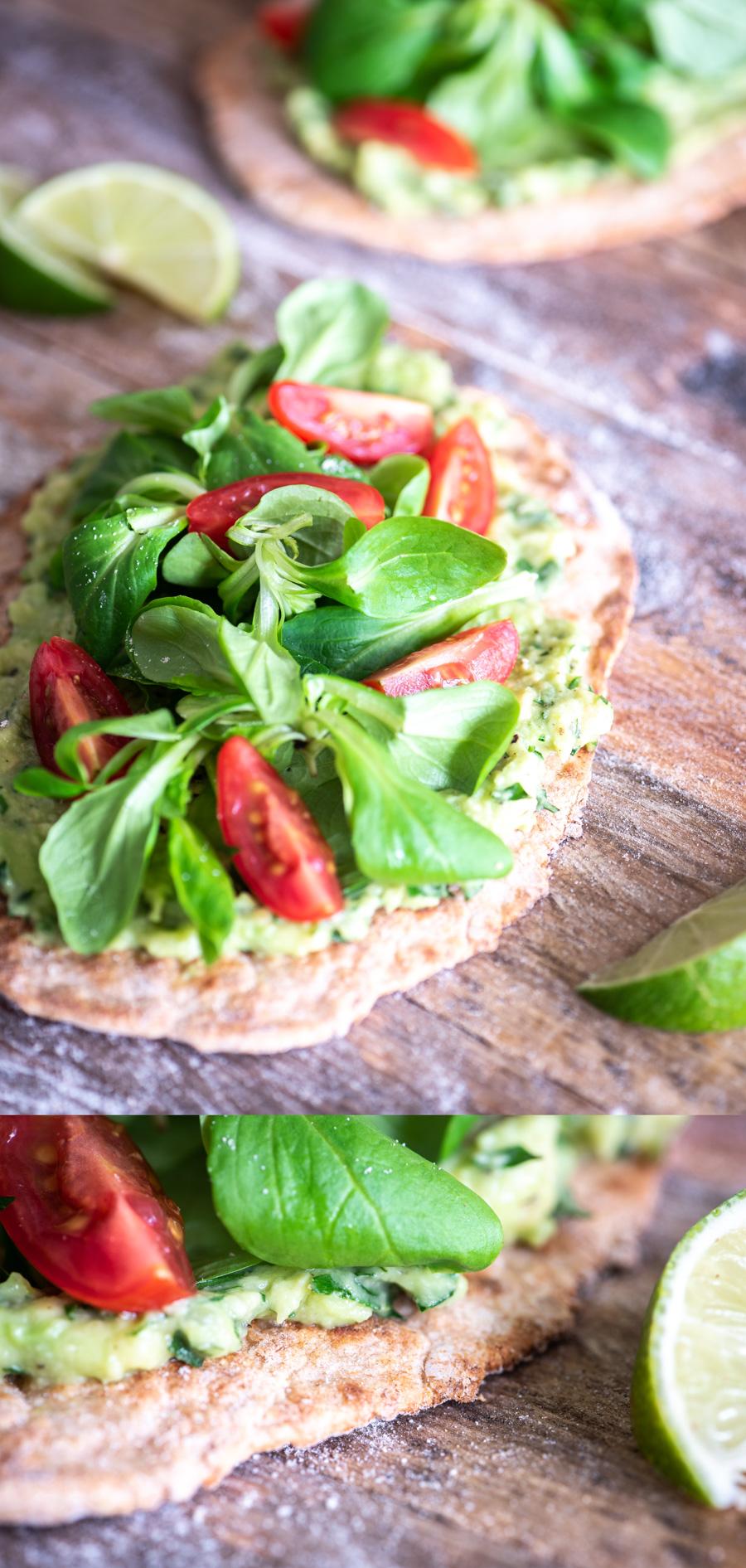 Yoghurtbrood Met Avocado Limoen Spread Voedzaam Snel
