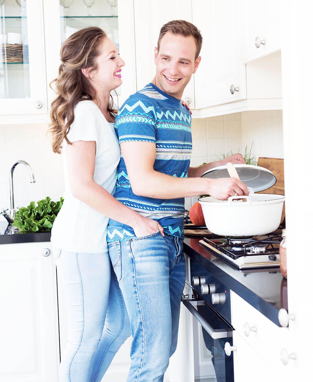 foto in de keuken van jennifer en sven