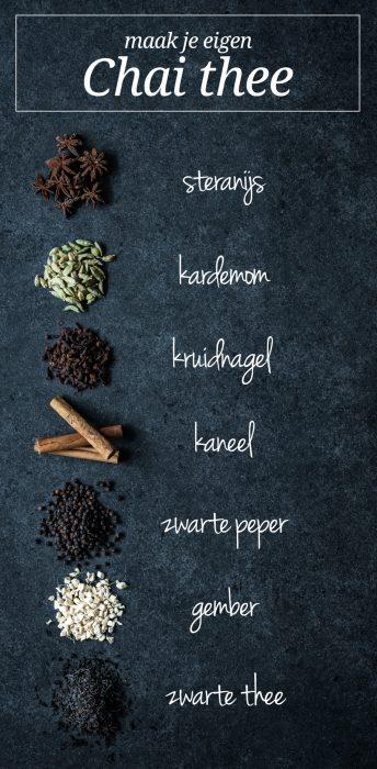 met deze kruiden en specerijen kun je zelf chai thee maken