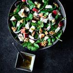 spinazie salade met walnoten