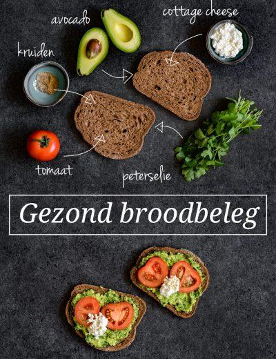 Losse ingredienten op tafel voor een gezond broodbeleg