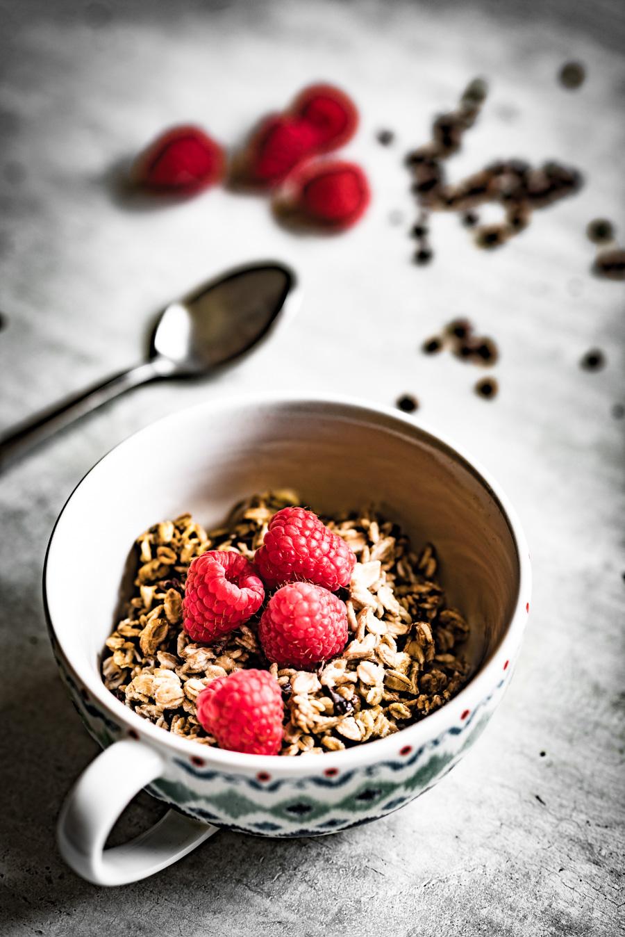 overnight oats met roggevlokken