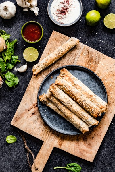 borek recept turkse spinazie feta rolletjes