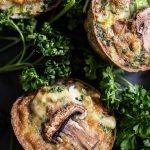 mini quiche met gebakken champignon