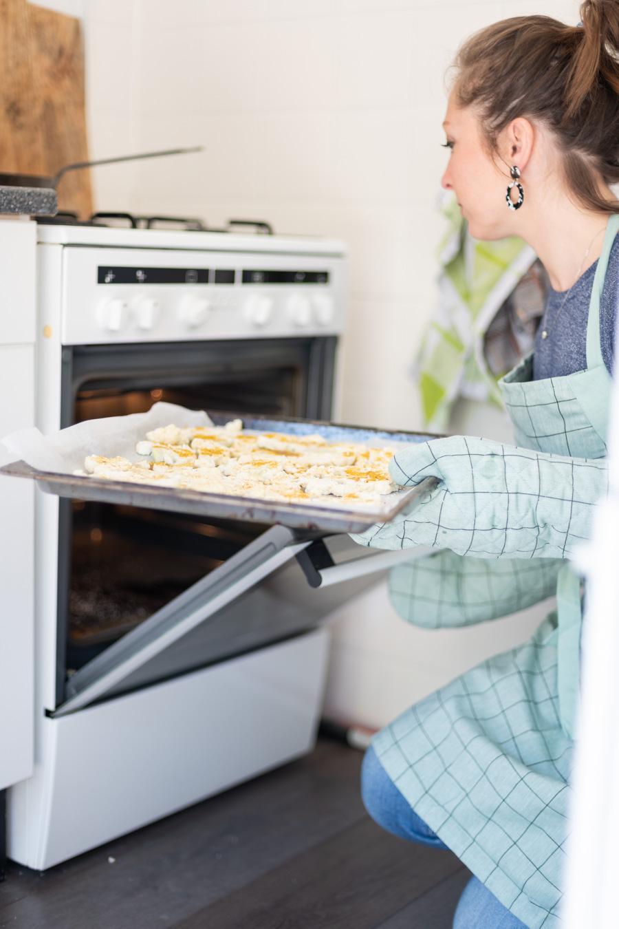 bloemkool grillen in de oven