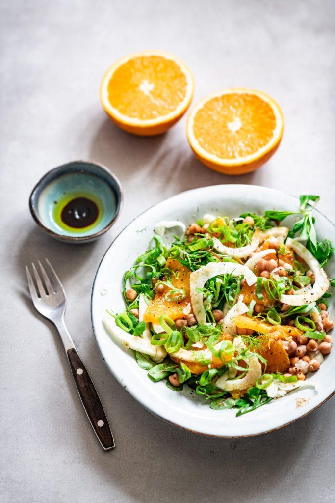 venkel salade met sinaasappel en walnoten