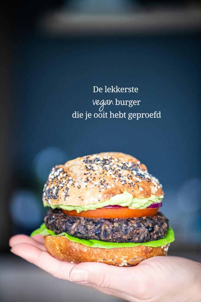 de lekkerste vegan hamburger die je ooit hebt geproefd