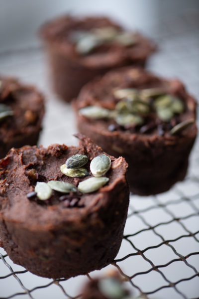 chocolade muffins van zoete aardappel