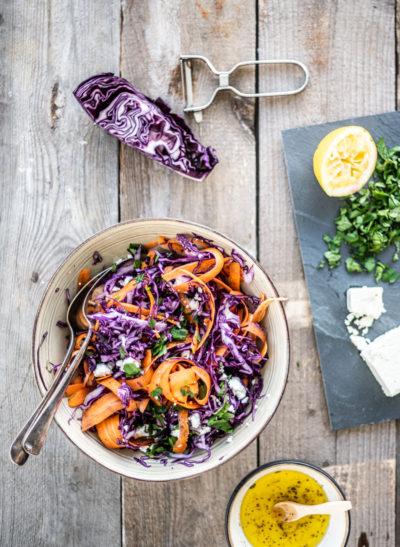 salade rode kool en feta