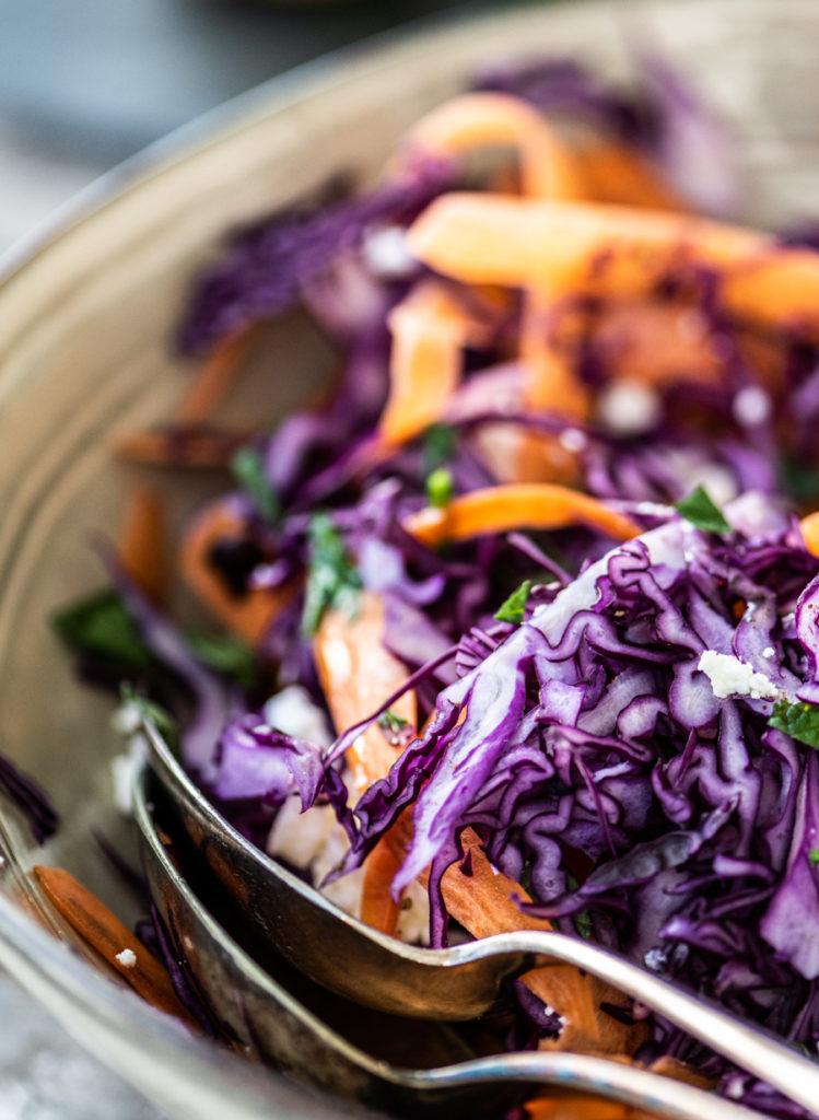 salade rode kool en wortel