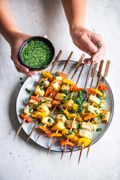 tofu ananas spiesen