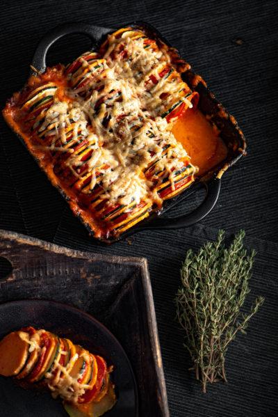 Lekker ratatouille gerecht met zoete aardappel