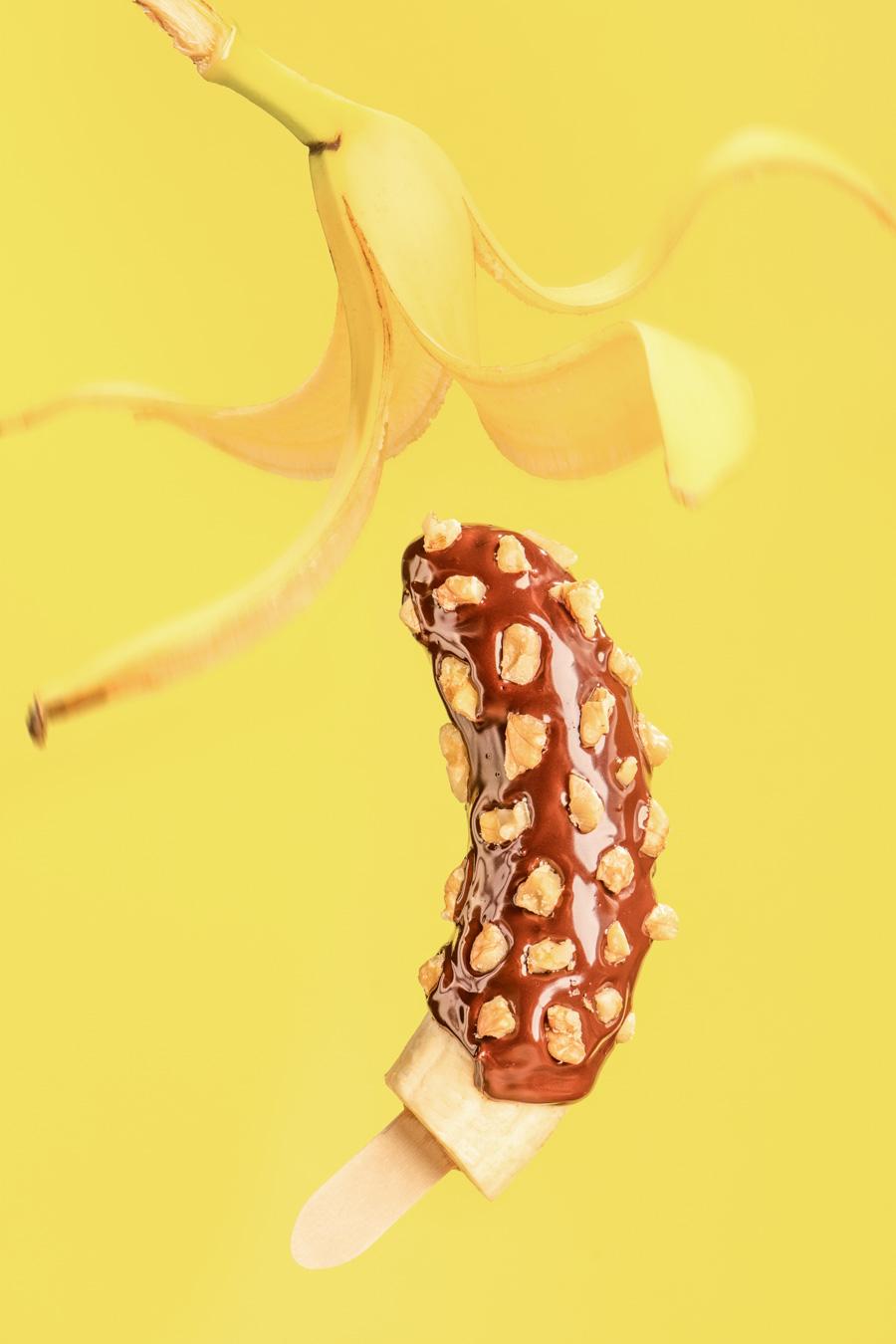 Recept voor banaan met chocolade en walnoot