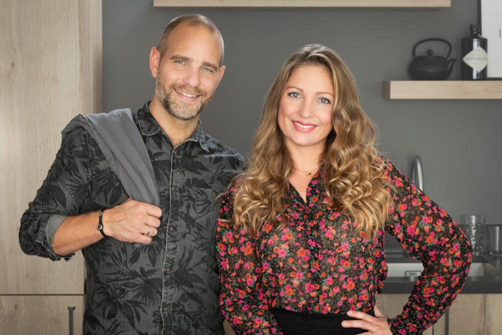 Jennifer en Sven in de keuken