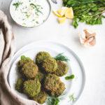 groene falafel met ricottadip
