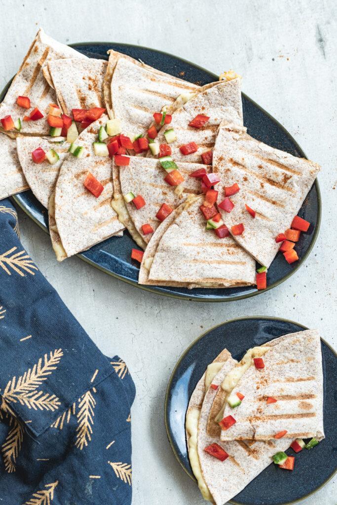 simpele quesadillas met paprika
